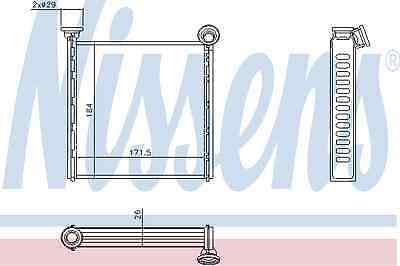 Nissens Heat Exchanger 71162 Fit with Peugeot 308