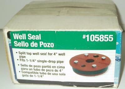 "ProPlumber Well Seal for 4"" Well Pipe for 1-1/4"" Single Drop Pipe 105855"