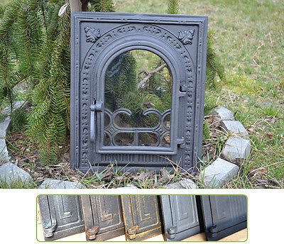 34,5x42cm Cast iron fire door clay / bread oven / pizza stove smoke house DZ009