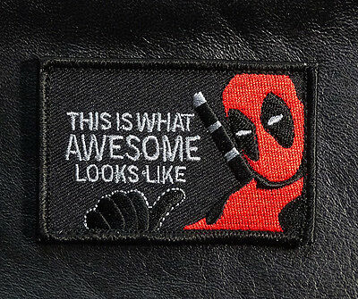 THIS IS WHAT Awesome Looks Like DEADPOOL TACTICAL MORALE PATCH (red/blk-DP1)