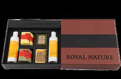 Royal Nature Body Therapy Cleanser and 100% Handmade Soap Gift Set (6pcs)