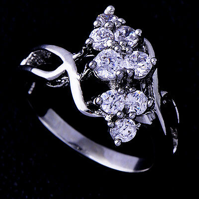 Beauty fashion Engagement CZ Ring White Gold Filled Free Shipping Size 5