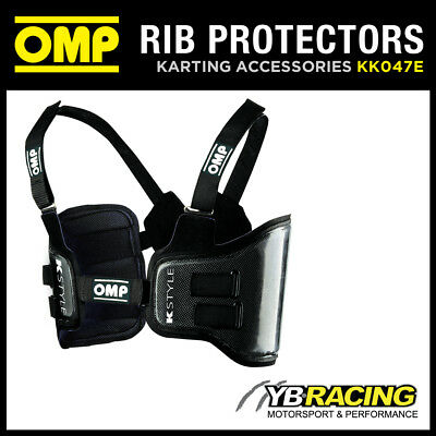 Kk047E Omp K-Style Kart Carbon Fibre Rib Protection Vest 4 Sizes Karting