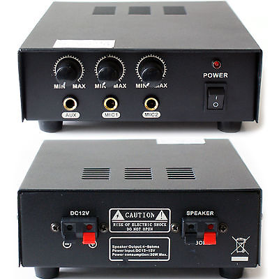 Mobile/PA Vehicle 30W Amplifier/Amp -12v Dc- Car Horn Public Canvasing Speaker