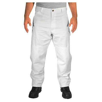 Rugged Blue Double Knee Painters Pants - White - 40x32