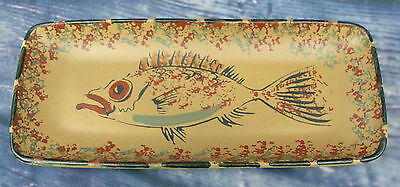 Vintage Signed Honiton Pottery Fish Dish - 26.5 cm by 11.5 cm - Rare item.