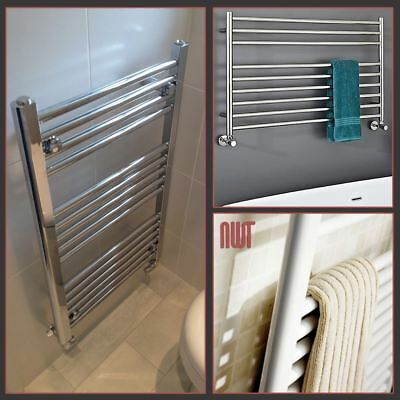 White, Chrome OR Polished Stainless Steel Heated Bathroom Towel Rail Warmers