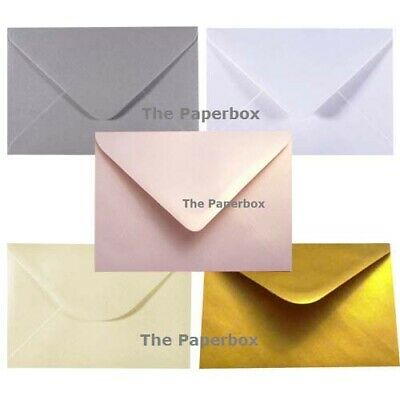C6 Pearlescent Envelopes - variety of colours & pack sizes