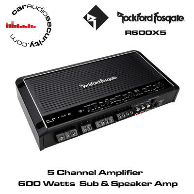 Rockford Fosgate Prime R600X5 - 5 Channel Amplifier 600 Watts SUB & SPEAKER AMP