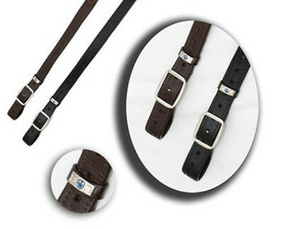Stubben NT Wrapped Monostrap Stirrup Leathers Ebony/Dark Brown  Long, NEW!!