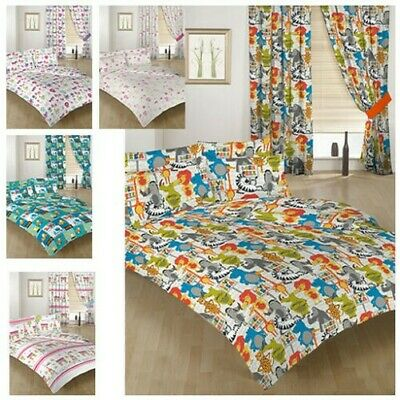 Childrens Bedding Double Size Duvet Qulit Covers & 2 Pillowcases Bed Kids Prints