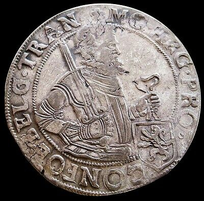 1620 Silver Netherlands 48 Stuivers (Rijksdaalder) Coin Very Fine Condition