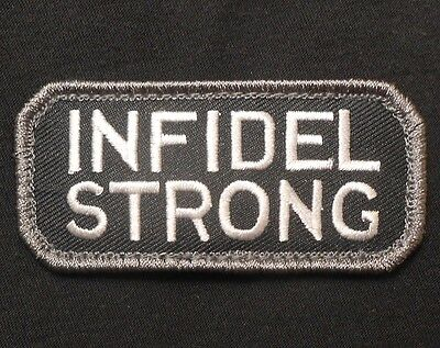 Infidel Strong Army Morale Combat Badge Swat Velcro® Brand Fastener Patch