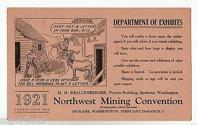 1921 illustrated mining card to Cumberland manager Dunsmuir Canadian Collieries