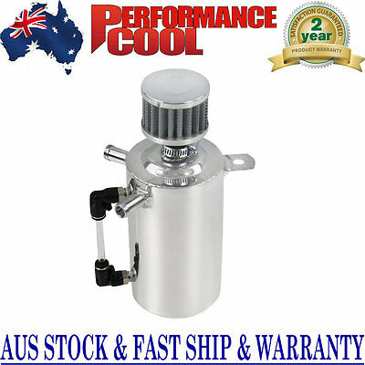 0.5L Oil Breather Tank Catch Can Reservoir W/black Stainless Filter