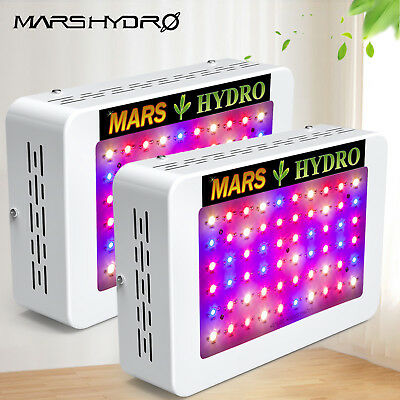 2PCS Mars 300W LED Grow Light Lampe Vollspektrum Für Pflanze Wuchs Blüte Indoor