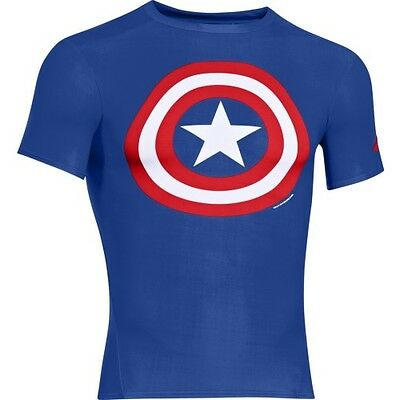 Under Armour Alter Ego Compression Mens Base Layer Top - Captain America Royal