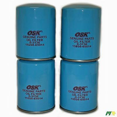 4 units OSK Genuine Oil Filter suit Z503 - Nissan Navara Patrol Terano Diesel