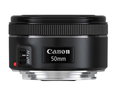 GENUINE New Canon EF 50mm f/1.8 STM Camera Pancake Lens