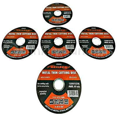 "5 Angle Grinder Discs Disks 4.5"" 115Mm Cutter Thin Metal Steel Cutting Blade 12C"