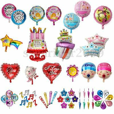 Funny Pattern Foil Balloon Kids Children Baby Happy Birthday Party Decoration
