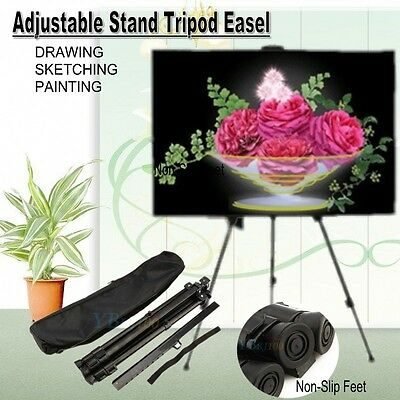 Metal Tripod Easel Display Stand Drawing Board Artist Sketch Painting Adjustable