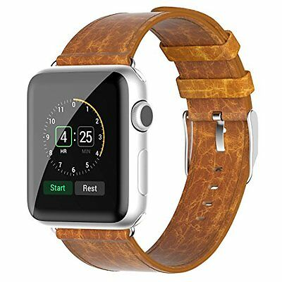Apple Watch Band, JETech® 38mm Genuine Leather Strap Wrist Bands Replacement w/