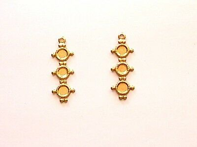Brass 1-R Frame Setting For Three 3Mm Fb Cabs X 12