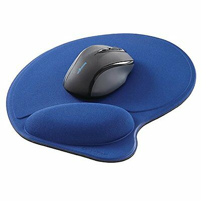 Kensington Wrist Pillow Mouse Pad with Wrist Rest in Blue L57803US