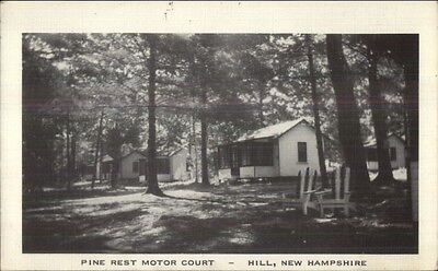 Hill NH Pine Rest Motor Court Postcard