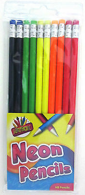 Artbox Neon Rubber Tip HB Pencil (Pack of 10) (3669)