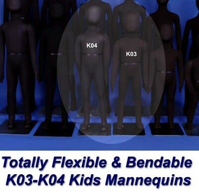 Two New White K07 K08 Totally Flexible and Bendable Arms and Legs Mannequins