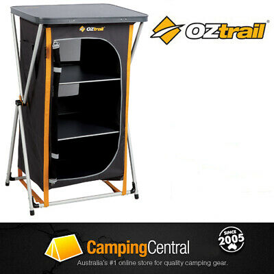 Oztrail 3 Shelf Hard Top Deluxe Instant Storage Camping Cupboard