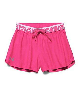Under Armour Youth Girls Play Up Shorts, Rebel Pink/Steel, Medium