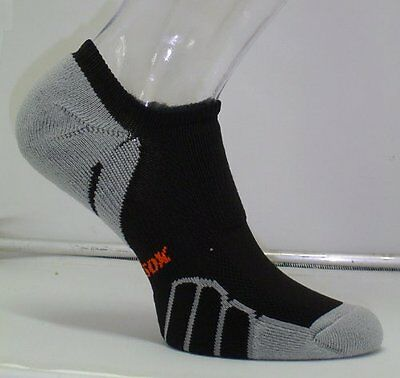 Vitalsox Running Ghost Light Weight Sock, Black, Medium VT0310