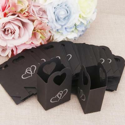 50 Wedding Favour Gift Candy Boxes Bags Baby Shower Party Anniversary Black