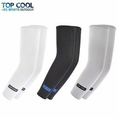 3 Pairs of Sports Cooling Arm Sleeves UV Protection for Bike / Hiking / Golf