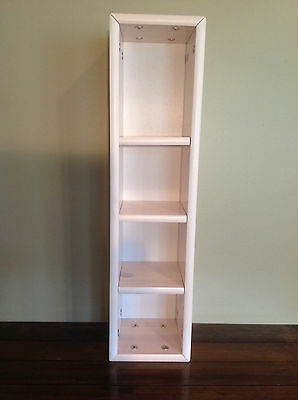 "FLEXA NARROW SHELF 28""x7""x7"" w/ adjustable shelves, WHITE WASH FINISH #7483314,"