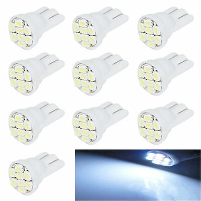 10X T10 W5W 194 168 501 Car White 8 LED 3020 SMD Wedge Side Light Bulb Lamp