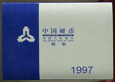 China 1997, Current Proof coins Set(6pieces) with Original Case Box+COA