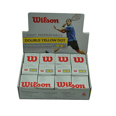 2 Box - 24 Ball - Wilson Squash Ball - 2 Yellow Dots - Tournament Grade