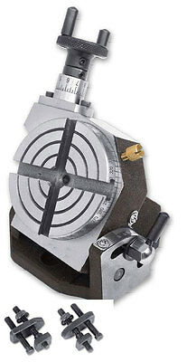 """Rotary Table Tilting  3""""/75mm With Clamping Kit for Milling Machine"""
