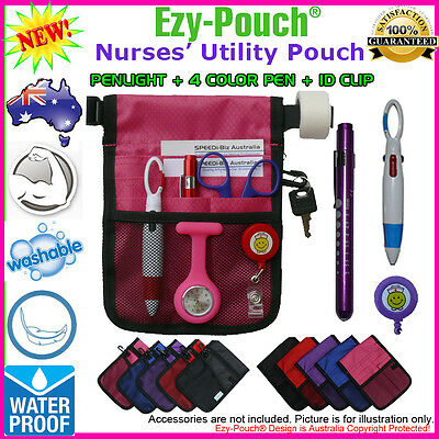 Quality Ezy-Pouch® NURSE POUCH BAG POCKET + MEDICAL PEN LIGHT + Bonus Pack