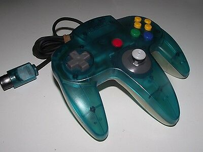 Genuine Nintendo 64 N64 Clear Blue and Clear Controller Refurbed Toggle Original