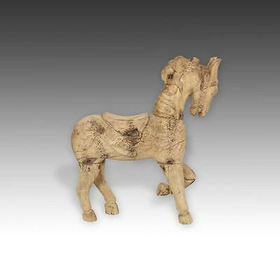 Antique Horse Tenasserim Pine Wood Thailand Late 19Th / Early 20Th C.