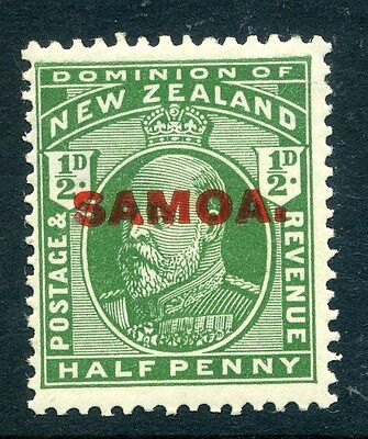 SAMOA;  1914 early Optd. issue fine Mint hinged 1/2d. value