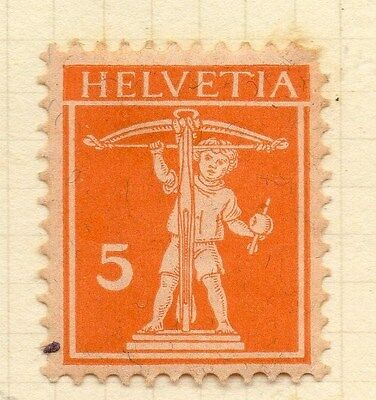 SWITZERLAND 1921 Early Issue Fine Mint Hinged 5c. 052477