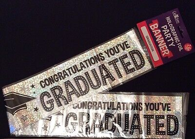 3 X Graduation / Graduated Banners /wall Banners / Sash / Party Decoration