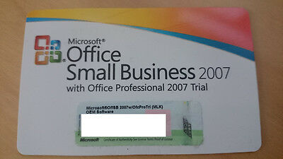 Microsoft Office 2007 Small Business Edition SBE Word Excel Outlook PowerPoint