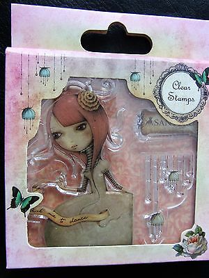 Santoro Mirabelle Clear Stamps: Ask Me To Dance SNCS006